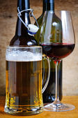 Beer and wine drinks — Stock Photo