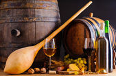 Traditional food and wine — Stock Photo
