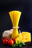 Traditional pasta ingredients — Stock Photo