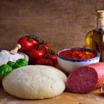 Homemade pizza ingredients — Stock Photo #11054616