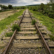 Old beautiful railroad - Stock Photo