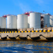 Royalty-Free Stock Photo: Silos in harbour