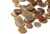 Isolated coins — Stock Photo