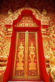 Traditional Thai art door — Stock Photo