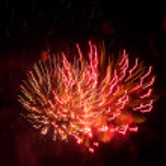 Pink and Orange Firework — Stock Photo #11440946