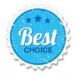 Best choice vintage label — Stockvectorbeeld