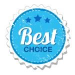 Best choice vintage label — Stock Vector