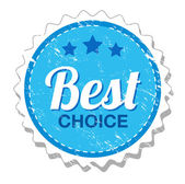 Best choice vintage label — Stock Vector