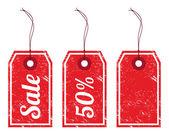 Sale retro price tags — Stock Vector