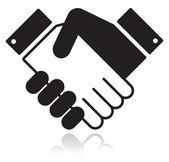 握手有光泽的黑色图标 — 图库矢量图片