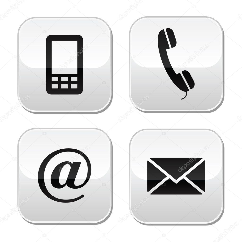 symbol telefon email