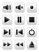 Sound / music buttons set — Stock Vector