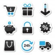 Web / internet icons set - shopping — Vector de stock