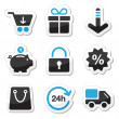 Web / internet icons set - shopping — Stok Vektör