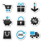 Web / internet iconen set - shopping — Stockvector