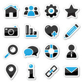 Web and internet buttons set — Stock Vector