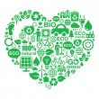 Постер, плакат: Eco heart background green ecology