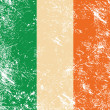 Ireland retro flag — Image vectorielle