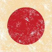 Japan retro flag — Stock Vector