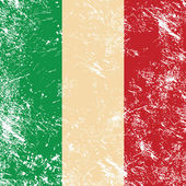 İtalya retro bayrağı — Stok Vektör