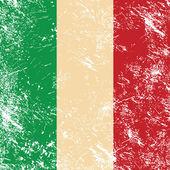 Italien retro flagge — Stockvektor