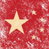 Bandera de china retro — Vector de stock