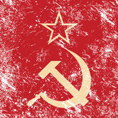 Communism CCCP - Soviet union retro flag — Stock Vector