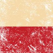 Poland retro flag — Stock Vector
