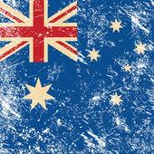 Australia retro flag — Stock Vector