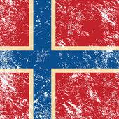 Norway retro flag — Stock Vector