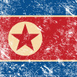 North Korea retro flag — Stock Vector