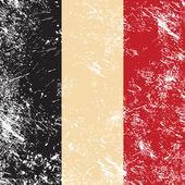 Retro banderą belgii — Wektor stockowy