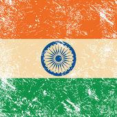 India retro vlag — Stockvector