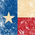 Texas retro flag — Stock Vector