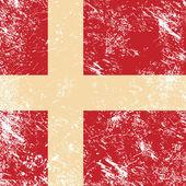 Retro vlajka dánsko — Stock vektor