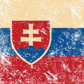 Slovakia retro flag — Stock Vector