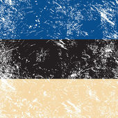 Estonia retro flag — Stok Vektör