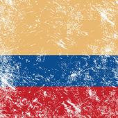コロンビアのレトロなフラグ — ストックベクタ