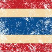Thailand retro flag — Stock Vector