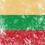 立陶宛复古国旗 — 图库矢量图片