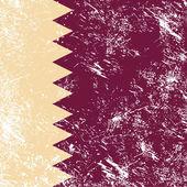 Bandera de qatar reto — Vector de stock