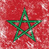 Morocco retro flag — Stock Vector