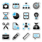 Internet, web icons as labels — Vector de stock