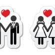 Gay marriage labels — Stock Vector
