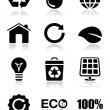 Green ecology icons set — Stock Vector #12177168