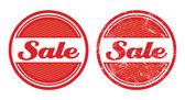 Sale retro grunge badges — Stock Vector