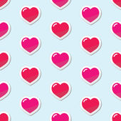 Seamless Heart love background, pattern — Stock Vector