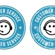 Customer service retro badges — Imagen vectorial