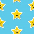 Seamless happy stars background for kids — Stock Vector #12291589