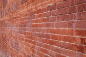 Texture of old wall of red brick — Stock Photo